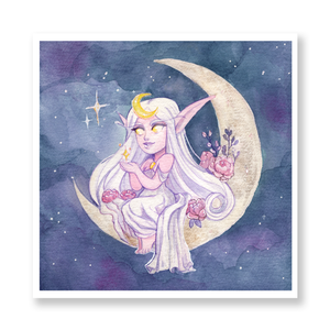 Moon and Stars Mini Print
