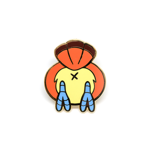 Pepe bird butt hard enamel pin