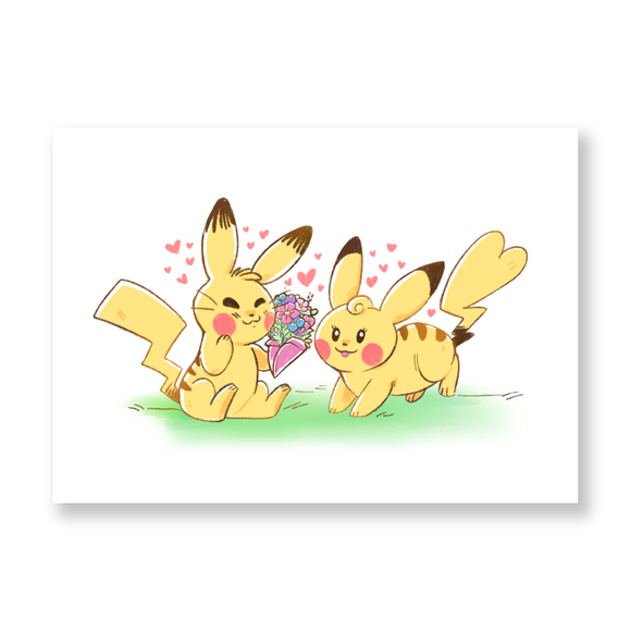 Pikachu Love Mini Print