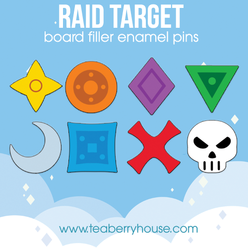 Raid Target board filler pin set