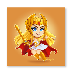 Chibi 80's She-Ra  Mini Print