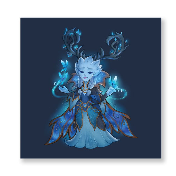 Shadowlands: Winter Queen Chibi Mini Print