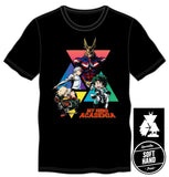 My Hero Academia Graphic Men's Black T-Shirt Tee Shirt