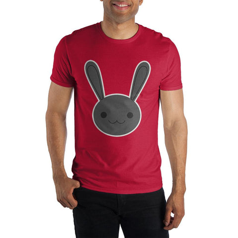 Men's Bunny Rabbit Face Specialty Soft Hand Print Shirt