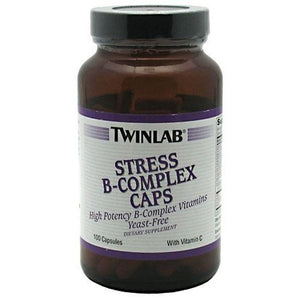 TwinLab Stress B-Complex Caps 100 ea Vitamins and Minerals Supplement