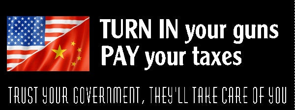 Turn in your guns Bumper Sticker