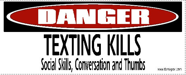 Texting Kills Bumper Sticker - DOMAGRON
