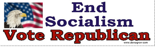 End Socialism- Vote Republican Bumper Sticker - DOMAGRON