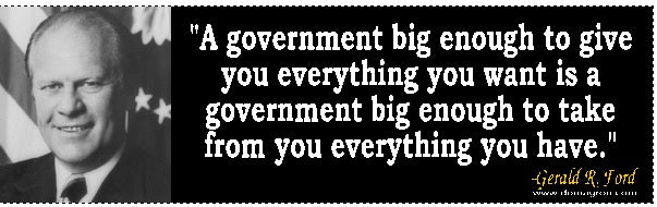 A government big enough to give you everything you want bumper sticker - DOMAGRON