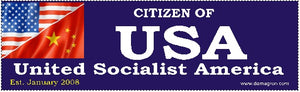 USA- United Socialist America Bumper Sticker