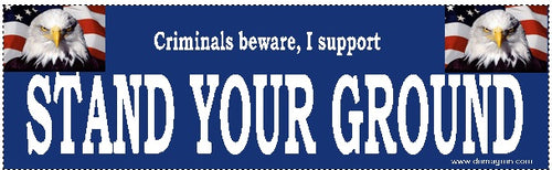 Stand Your Ground Bumper Sticker- Gun Rights Bumper Sticker - DOMAGRON