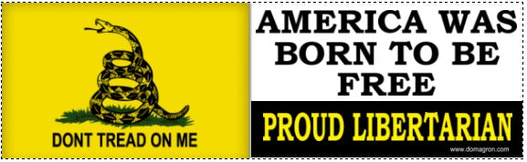 America Was Born To Be Free Gadsden Liberty Bumper Sticker (Don't Tread on Me)