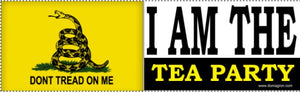 I Am The Tea Party Bumper Sticker - DOMAGRON