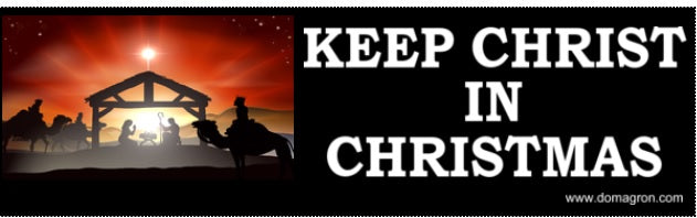 Keep Christ in Christmas Bumper Sticker - DOMAGRON