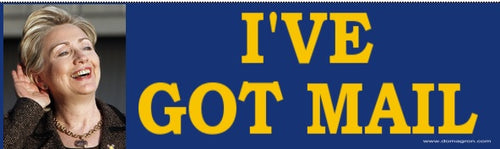 Hilary Clinton E-Mail Scandal Bumper Sticker - DOMAGRON