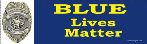 Blue Lives Matter Bumper Sticker - DOMAGRON