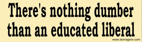 There's Nothing Dumber Than an Educated Liberal Bumper Sticker - Generic Version