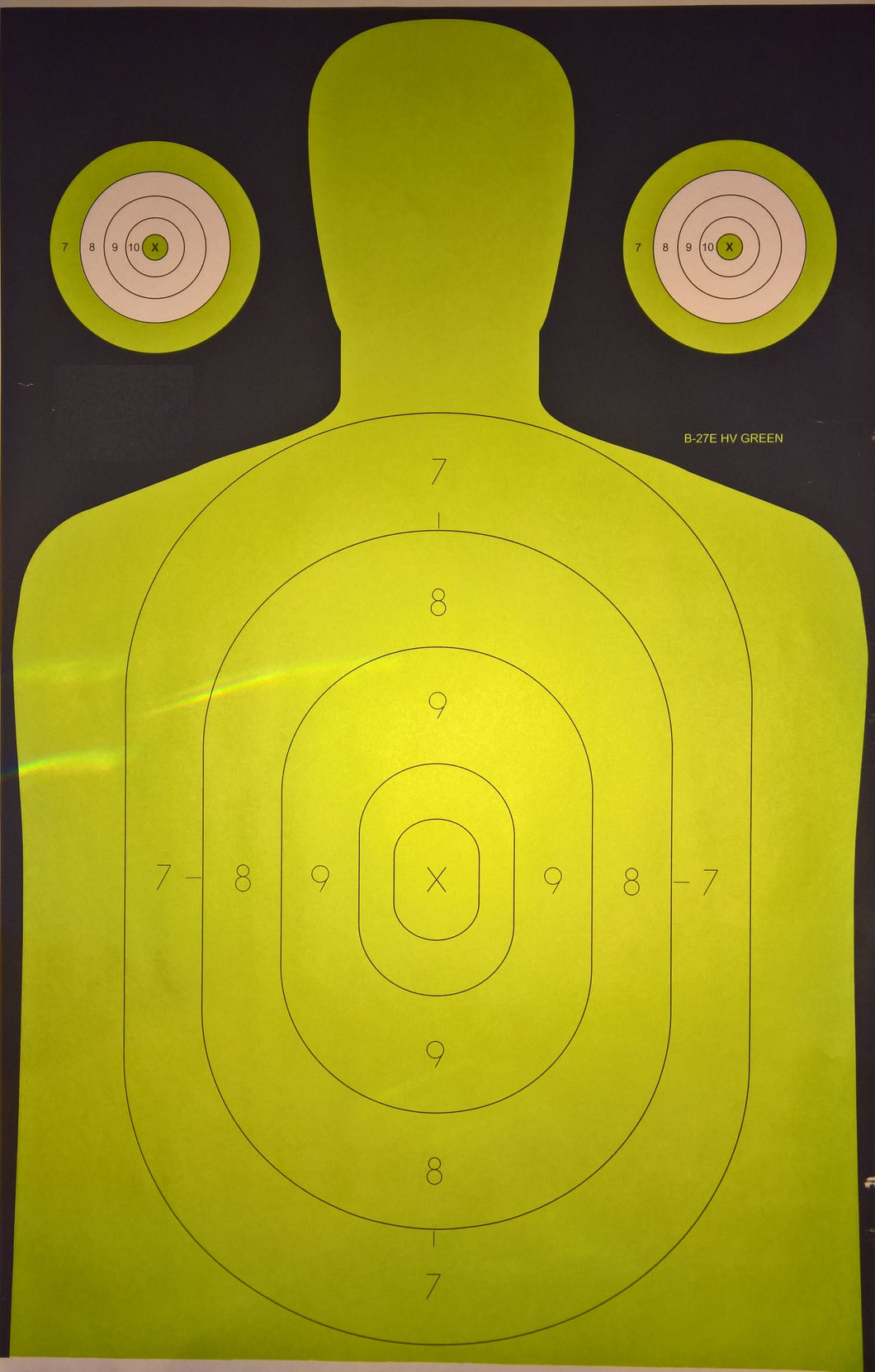Police Standard Silhouette Target - HIgh Viability Green Target - B-27 HIGR 22.5 X 35 (100 Pack)