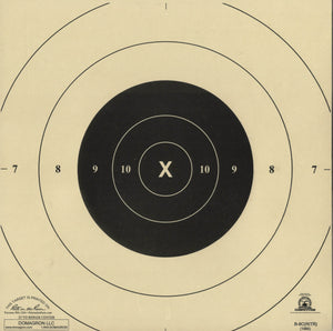 B-8C Weather Resistant 25 Yard Timed and Rapid Fire Repair Center Pistol Target Official NRA Target (48 Pack) with Rite in The Rain Technology - DOMAGRON