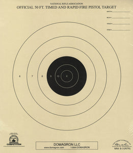 B-3 Weather Resistant 50 Foot Timed and Rapid Fire Pistol Target Official NRA Target (48 Pack) with Rite in The Rain Technology