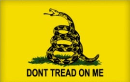 Gadsden Flag - Don't Tread on Me Bumper Sticker - DOMAGRON