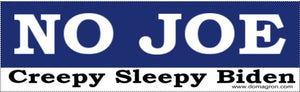 No Joe Bumper Sticker Version 1- Anti Joe Biden Bumper Sticker - DOMAGRON