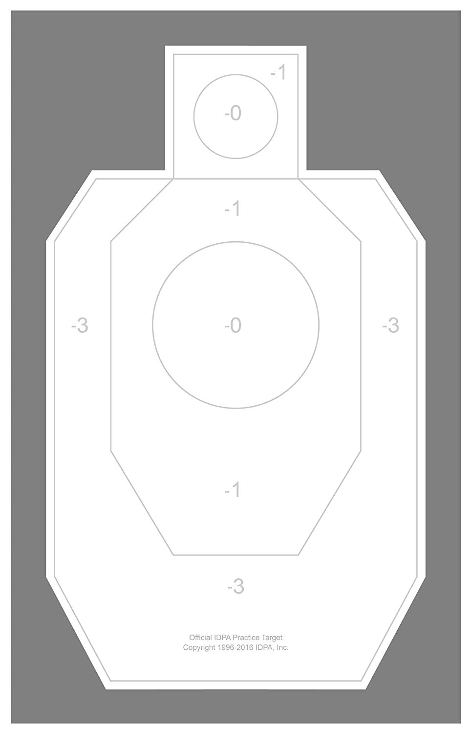 IDPA - Weather Resistant Official IDPA Practice Target 22