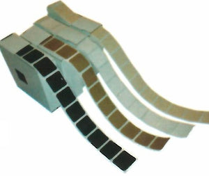 "1"" Self-Adhesive Square Pasters - 1,000 per roll - DOMAGRON"
