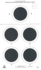 A-31 50 Yard Smallbore Rifle Target (Pack of 100) - DOMAGRON