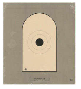 AP-2 - Bianchi Cup Black Center Official 50 Foot Reduction NRA Target of AP-1 Target - DOMAGRON