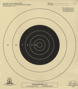 B-16 Weather Resistant 25 Yard Slow Fire Pistol Target Official NRA Target (48 Pack) with Rite in The Rain Technology