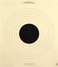 50 Yard Reduction of 50 Meter UIT Slow Fire Official NRA Target B-19 (100 Pack)