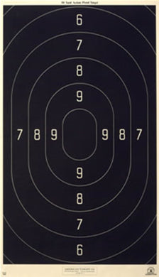 50 Yard Combat Action Pistol Official NRA Target B-18 18.5 x 32 (100 pack)