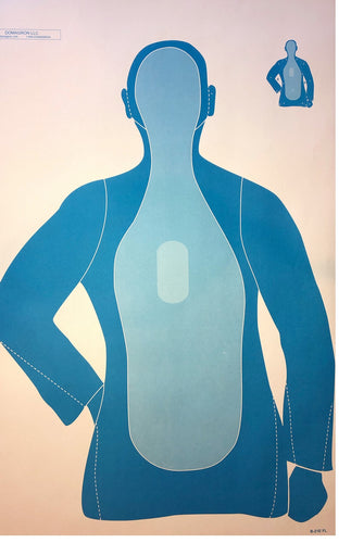 Silhouette 3-Tone Blue Training Target (Pack of 100) - DOMAGRON