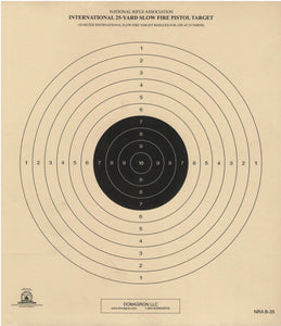 B-35 Official NRA Target- 50 Meter International Slow Fire Target Reduced for Use at 25 Yards (Pack 0f 100) - DOMAGRON