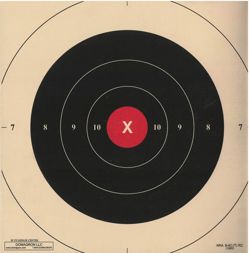 50 Yard Red Repair Center Slow Fire Pistol Target of the NRA Target B-6(CT) (50 Pack)