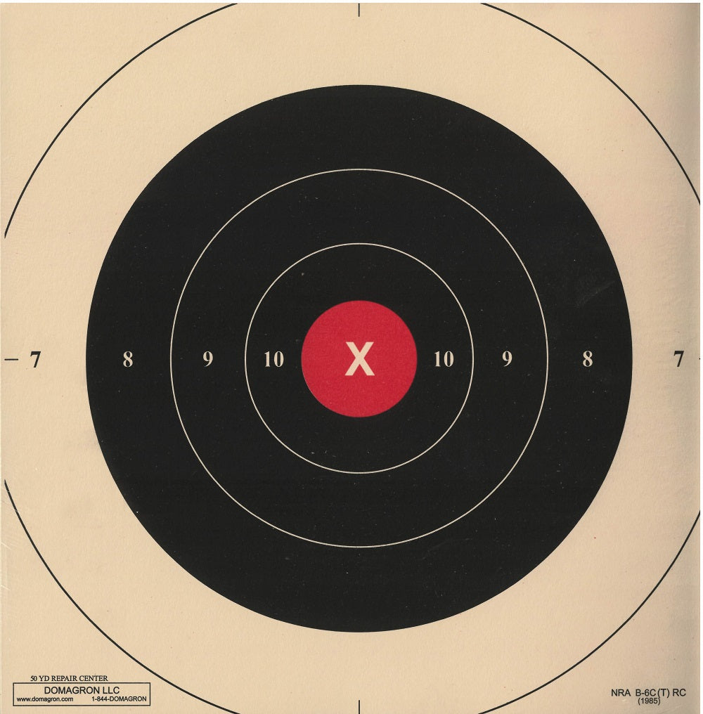 B-6C - Red Repair Center for the 50 Yard Slow Fire B-6 Pistol Target (Pack of 50) - DOMAGRON