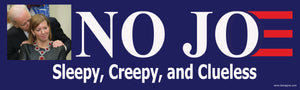 No Joe Bumper Sticker Version 2- Anti Joe Biden Bumper Sticker - DOMAGRON