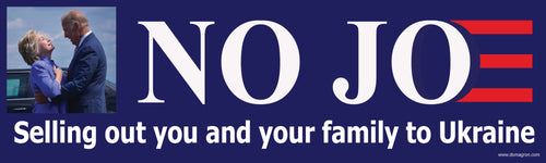 No Joe Bumper Sticker Version 4- Anti Joe Biden Bumper Sticker - DOMAGRON