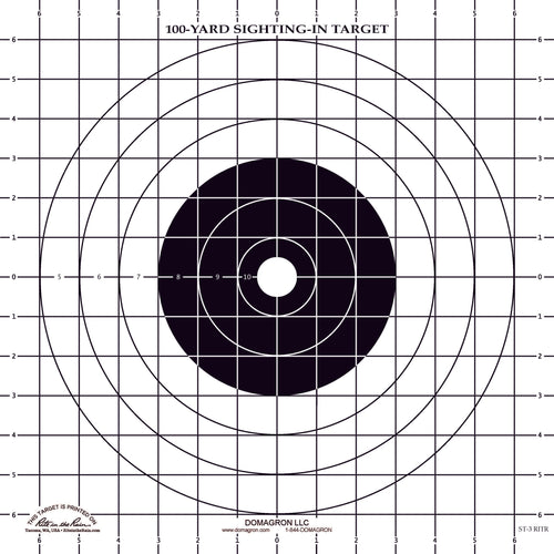 ST-3 - Weather Resistant Sighting Target  (48 Pack) with Rite in The Rain Technology - DOMAGRON