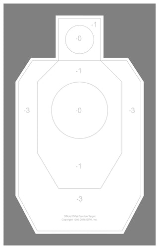 Official IDPA Practice Target 22 x 34.5 (100-Pack) - DOMAGRON