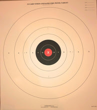Load image into Gallery viewer, B-8 - Red Center Variant of the 25 Yard Timed Slow and Rapid Fire Pistol Target  (Pack of 100) - DOMAGRON