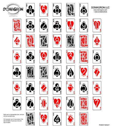 DOMAGRON Deck of Cards Poker Shooting Target (100 Pack)