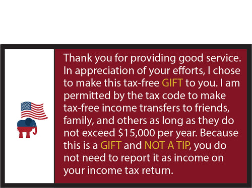 Republican Tip Card Handout (Pack of 100) - DOMAGRON