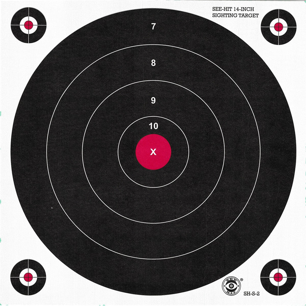 Green Fluorescent Reactive Target - ST-2 Sighting Target (24 Pack) - DOMAGRON