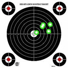 Load image into Gallery viewer, Green Fluorescent Reactive Target - S-1 Sighting Target (24 Pack)