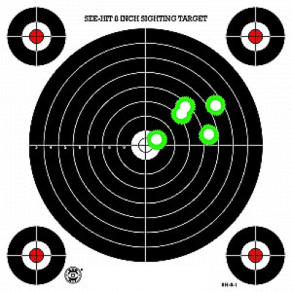 Green Fluorescent Reactive Target - S-1 Sighting Target (24 Pack) - DOMAGRON