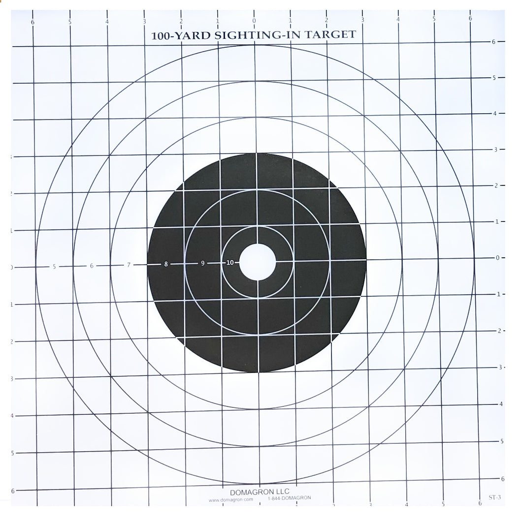 ST-3 - 100 Yard Rifle Sighting Target (Pack of 100) - DOMAGRON