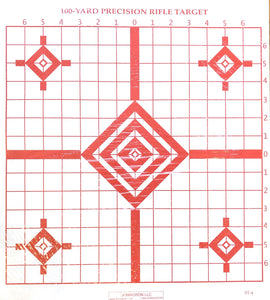 ST-4 - 100 Yard Rifle Sighting Target - DOMAGRON