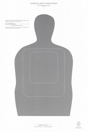 TQ-16 50 Foot Official NRA Police Training and Qualification Target (pack of 100) - DOMAGRON